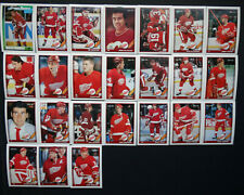 1991-92 O-Pee-Chee OPC Detroit Red Wings Team Set of 24 Hockey Cards