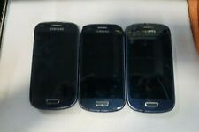 Lot of 3 Samsung Galaxy S3 Mini 8GB(SM-G730A)-Blue -  AT&T - READ BELOW