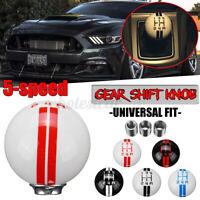Universal Car 5 Speed Round Ball MT Manual Gear Shift Knob Shifter w/  */!