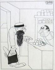 Rare dessin original de 1930 par le grand caricaturiste Albert DUBOUT1905-1976