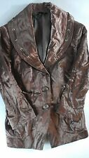 Soma Intimates Cargo Drawstring Jacket NEW Womens XS Mochaccino 1/2 Sleeve Shiny