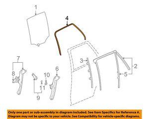 NEW OEM GM Rear Left Door Glass Weatherstrip Seal 25790859 Saturn Vue 2002-2007