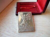 Medaille Centenaire Fédération Française de Tir, 1986, TTB, Gilt Bronze