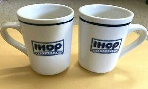 ( 2 )  IHOP  Restaurant Ware Coffee Mug Cups  International House of Pancakes