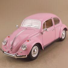 1967 Volkswagen Classical Beetle Pastel Pink 1:24 17cm Die-Cast OLP Model Opens