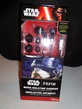 NEW OFFICIAL Disney iHome Star Wars Force Awakens Isolating Earbuds Headphones