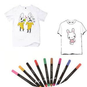 10Color Permanent Fabric Paint Marker T-Shirt Pen For Clothes Shoes DIY Graffiti