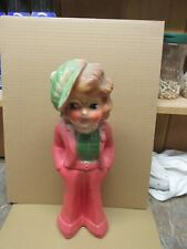 Vintage Carnival Chalk Doll - Shirley Temple Doll Pre-1950