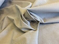 """FABRIC FNDERS GREY/WHITE COTTON GINGHAM--60""""W-- BY THE YARD"""