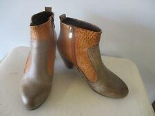 Spring Step L'Artiste Boho Hippy Boots Shoes Heels sz 8 M 38