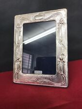 Vtg Art Nouveau Style Hallmarked Sterling Silver Silver Photo Picture Frames