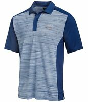 Greg Norman Mens Heathered Colorblocked Rugby Polo Shirt