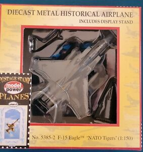 Model Power #2-5385-2 F-15 Eagle Nato Tigers Die Cast Airplane New In Box