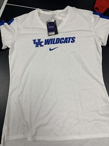 Women's Medium Kentucky Wildcats Stamp V-Neck Dri-Fit Nike Performance Shirt NWT
