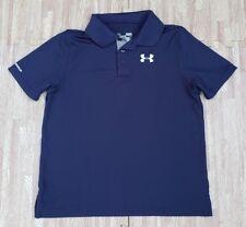 Under Armour Navy Blue Polo Shirt ~ Youth Large L ~ HeatGear Golf