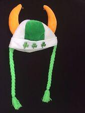 Irish Party Hat Shamrocks Horns Bells Braids St. Patrick'S Day Party Mascot