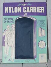 Vintage Jet Lite Garment Bag Nylon Carrier Navy Blue Suit Size Travel Holder NOS