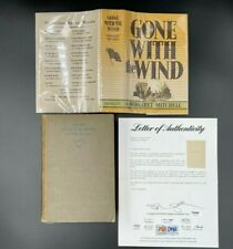 *Signed* May 1936 1st Printing Gone With The Wind First Edition w/Dj (Psa Loa)