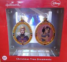 Hallmark Disney Snow White Blown Glass Ornaments Set of 2