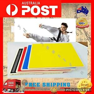 Break Board – Karate Taekwondo - Rebreakable Boards Yellow Blue Red Black Au NEW