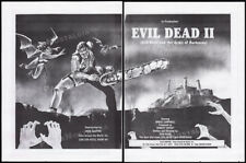 "THE EVIL DEAD II__Original 1984 Trade Print AD / poster__""In Production"" promo"