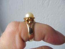 Sehr schöner ,alter Ring__333 Gold__mit schöner Perle___!