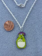 "Studio Ghibli TOTORO umbrella Pendant Necklace 18"" Birthday Gift Present  # 172"