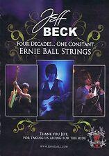JEFF BECK - ERNIE BALL STRINGSoriginal press clipping20x28cm