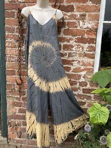 Tie Dye Adults Jumpsuit dungarees, hippie, boho, festival. alternative size Free