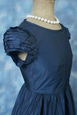 ~JESIRE~ Stunning Navy Blue Taffeta Evening/Day Dress~Size 10~New with Tags
