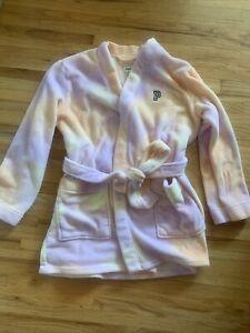 Pink - Juniors Fuzzy Robe Pink and Orange Tie Dye Size M/L -