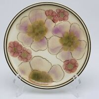 Denby Gypsy Stoneware 2 Salad Plates Dessert Langley Purple Pink Flowers Floral