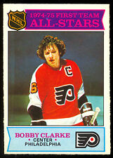 1975 76 OPC O PEE CHEE HOCKEY #286 BOBBY CLARKE NM ALL STAR FLYERS Philadelphia