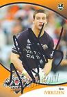 ✺Signed✺ 2009 WESTS TIGERS NRL Card TIM MOLTZEN Daily Telegraph