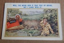 Postcard Humour  Car crash humour hell number plate  unposted XC2