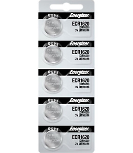 Energizer CR1620 Battery 3V Lithium Coin Cell CR1620 Batteries (5 Count)