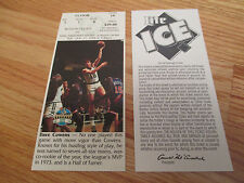 Game 19 DAVE COWENS Last Season BOSTON CELTICS 1/17/95 TICKET Boston Garden