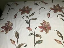 VOYAGE MAISON...LILLIUM PINK JADE FLORAL FABRIC...FIRST QUALITY