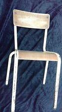 1 ancienne chaise d'école enfant  1960,vintage,atelier,loft,usine,industriel
