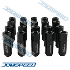 20 PCS M12X1.5MM BLACK OPEN END EXTENDED ALUMINUM TUNER RACING WHEEL LUG NUTS