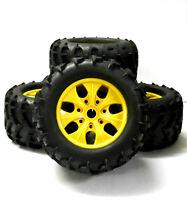 810004 1/8 Maßstab Offroad Rc Monster Truck Räder und Reifen X 4 Gelb