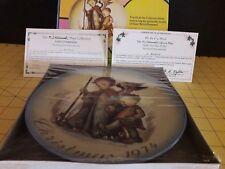 New Nib Hummel Schmid 1974 Christmas Plate - Guardian Angel W/ Certificates