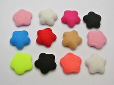 50 Mixed Color Flatback Fabric Covered Buttons Star 16mm Cabochon for DIY