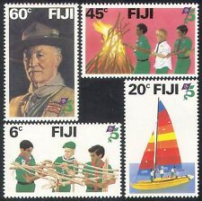 Fiji 1982 Baden Powell/exploradores/Scouting/Juventud/Barco/fuego de campamento 4v Set (n39969)