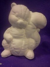 """Softy Skunk 8"""" Ceramic Bisque  ready to paint"""