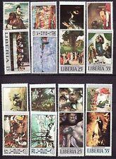 Liberia # 489/509 TWO MNH Complete Sets Art Religion