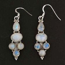 Moonstone Multi-Stone Earrings in Sterling Silver