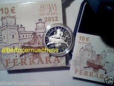 10 euro Italia 2012 Ag Fs Proof BE PP FERRARA Italie Italy Italien Italië Италия