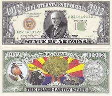 10 Arizona AZ State Quarter Novelty Money Commemorative Bills Lot #148