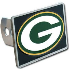 GREEN BAY PACKERS TEAM LOGO - NEW NFL RECTANGLE TRUCK TRAILER HITCH COVER